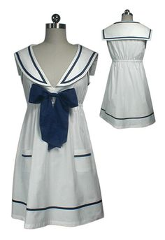 Cute sailor dress, also available in navy =)