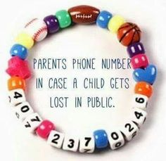 For the kiddos incase they get lost