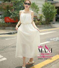 vaymaxidep_com-vay-maxi-trang-hai-day-tuoi-tre : Váy Maxi Đẹp