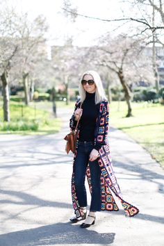 Crochet coat and Chloe Faye