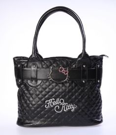 Hello Kitty quilted handbag http://www.welovekitty.com/hello-kitty-handbags-purses-loungefly-reviews/