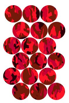 "Fun Camouflage Pattern (Red) Bottle cap image pack  Formatted for printing on 4"" x 6"" photo paper"