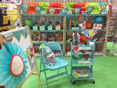 Melanie created her reading center with CTP's Dots on Turquoise Designer Decor. Check out her blog for more inspiration!