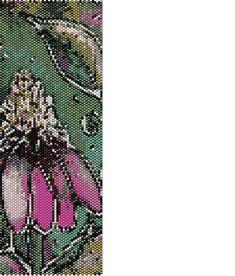 Pink Flower Peyote Cuff Beaded Bracelet by RubyDsArtandJewelry