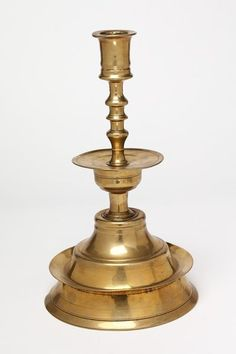 brass candlestick, England, early 16th century