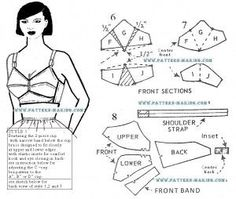 Drafting a bra pattern - includes section on how to increase or ...