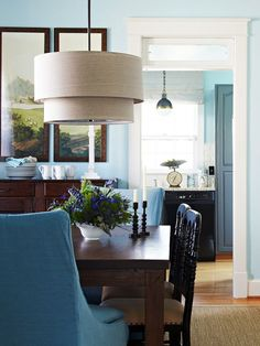 Drum Shade Chandelier... For kitchen table