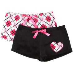 Wurl 2−pk. Plush Pajama Shorts ($12) found on Polyvore
