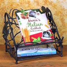 Wrought Iron Cookbook Holder by Bella Toscana Book Holders, Candle Holders, Cookbook Holder, Cook Book Stand, Best Gifts For Her, Iron Work, Iron Decor, Wrought Iron, Decorative Accessories
