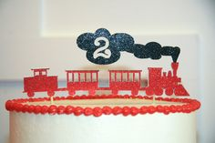 custom cake topper for a 2 year old train lover! Train Party Ideas