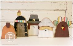 KIT Thanksgiving Friends Wood Craft by pebblesinmypocket on Etsy, $40.99