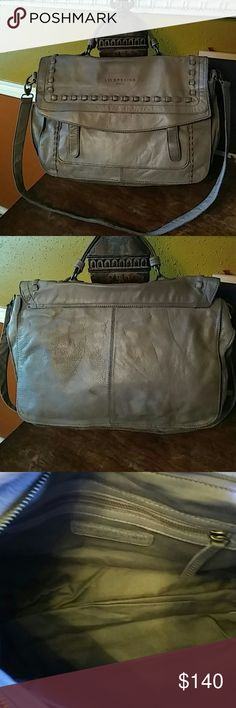 """🎏🎉SALE. Liebeskind Berlin Satchel Turn heads on campus this fall with this absolutely stunning soft supple durable gray messenger bag. Large enough to carry all your books and tech gear. All pockets have zipper closure to secure all of your items. A little spot on back as pictured. Long strap is removable drop is 20"""".  Short strap drop is 4.5. 17x11x6. Liebeskind Bags Laptop Bags"""
