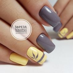 Bright fashion nails Fashion autumn nails Grey and yellow nails Nails for September 1 Original nails September nails Two color nails Vivid nails Nail Art Design Gallery, Best Nail Art Designs, Toe Nail Designs, Pedicure Designs, Fancy Nails, Trendy Nails, Pink Nails, Gray Nails, Bright Nails