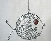Wire art fish.