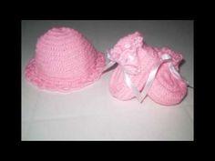 Toucas e Sapatinhos em crochê para bebê