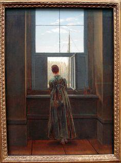 Caspar David Friedrich (1774-1840); Woman at a Window, 1822  (Alte Nationalgalerie Berlin)