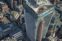 """Unique design: 20 Fenchurch Street, AKA """"the Walkie-Talkie,"""" now looms over the City of London."""