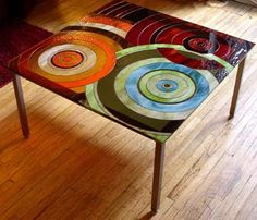 Stained Glass Art table furniture furnishings design and decor decor home design directory south africa Stained Glass Projects, Stained Glass Art, Stained Glass Windows, Mosaic Art, Mosaic Glass, Fused Glass, Do It Yourself Furniture, Decoration Originale, Design Furniture