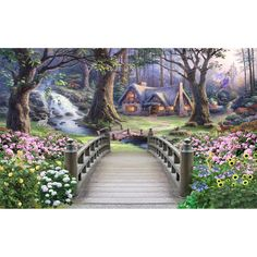 Modern Wallpaper Fantasy World Forest Wonders Custom Photo Wallpaper Murals Kid's Room Background Mural Wall Paper For The Wall