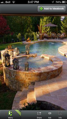 Nice yard space pools jacuzzi outdoor, hot tub garden и swimming pool desig Future House, Spa Design, Design Ideas, Whirlpool Spa, Villa Architecture, Jacuzzi Outdoor, Outdoor Patios, Outdoor Decor, Pergola Patio