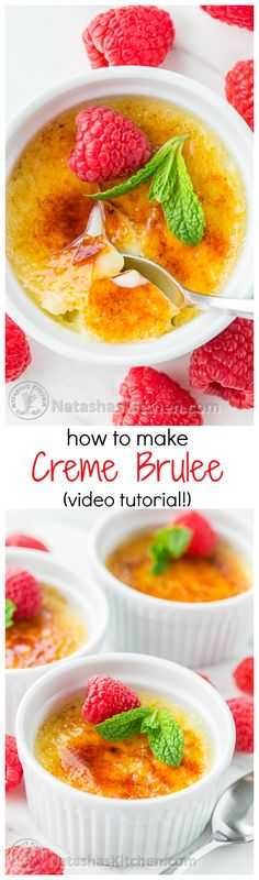 Quick and Easy Creme Brulee Recipe with great Video Tutorial from @natashaskitchen I need a blowtorch!