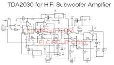 TDA2030 Subwoofer amplifier using 4558 filter subwoofer