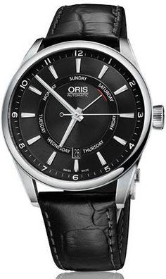 Oris Watch Artix Pointer Day Date Leather.