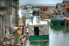 """Fish Town"" Leland (near Traverse City, Michigan)"