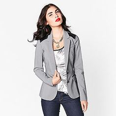 I love blazers. However, I don't like the really long ones. This one is a great length. I don't like the faux leather either.