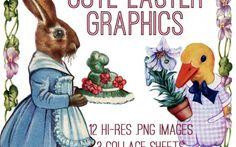Adorable Easter Graphics Kit! Graphics Fairy Premium