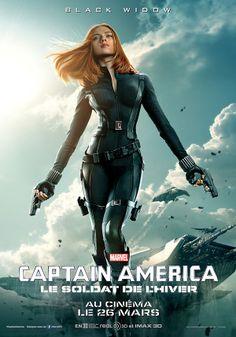 """""""Captain America 2"""": les affiches de Chris Evans, Scarlett Johansson et Samuel L. Jackson dévoilées ! - News films Vu sur le web - AlloCiné"""