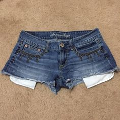 AE Jean shorts Size 2. Absolutely cute and chic! Super Comfy too! I love the style. In excellent condition. Like new. American Eagle Outfitters Shorts Jean Shorts
