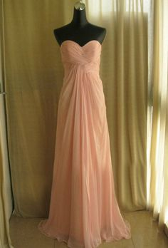 Custom Sweetheart Neckline prom dress evening dress long pink prom dress on Etsy, $99.00