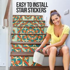 Decor, Sticker Set, Home Goods, Stair Stickers, Stickers, Pvc Material, Home Decor, Prints, Stairs