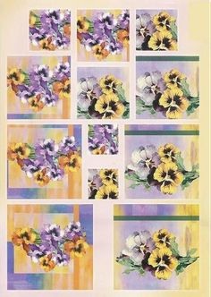 PYRAMIDE FLEURS - Pansies pyramid card topper