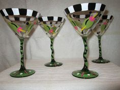 Hand painted martini glasses by swatamockers on Etsy, $11.00