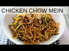 How To Make Chicken Chow Mein (Chinese Stir Fried Noodles) Chicken Chow Mein is easy and fast to make and super delicious. Chinese Meals, Chinese Cooking Wine, Chinese Recipes, Chinese Food, Asian Recipes, Ethnic Recipes, Chinese Stir Fry Noodles, Cooking Videos, Cooking Recipes