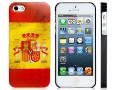 iPhone 5 5S Case Retro Spain Spanish Flag Protective Hard Back New Design Unique