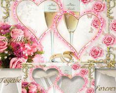 Groom and Bride Wedding Frame Template
