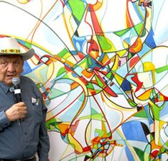 Alex Janvier Showing Respect, Mother Earth, Creative Art, Art Projects, Art Ideas, Artists, Outdoor Decor, Painting, Inspiration
