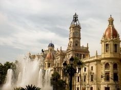 Valencia, Spain...an amazing blend of very old and very modern and the longest beach, ever!  Placa d'Ajuntament.