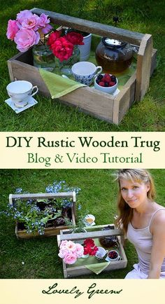 Easy tutorial on how to build Rustic Wooden Trugs - shows how to reclaim the wood from a pallet to make not one but two trugs. Genius! #diy #pallet #home #decor #wood #tutorial