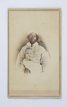 African American Nurse with White Baby - Slave? - SUPER RARE CDV with Tax Stamp | eBay