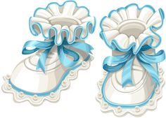 Buy Baby Blue Booties by azuzl on GraphicRiver. Baby blue booties isolated on white background Baby Shower Cards, Baby Cards, Kids Cards, Clipart, Baby Boy Scrapbook, Images Vintage, Baby Clip Art, Quilt Labels, Baby Christening