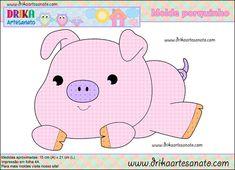 Patchwork moldes porquinho para patch aplique - Drika Artesanato - O seu Blog de Artesanato.
