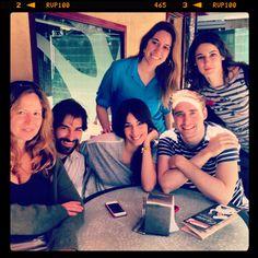 Reunión para preparar el Rodaje de Todos Los Sentidos, con Susana Romero, Rubén Serra, Almudena Cid, Llorenç Gonzalez, Ybare Seco , y Araceli Garcia