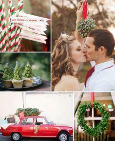 Ideas para una boda temática navideña #bodas #weddings #bodanavidad