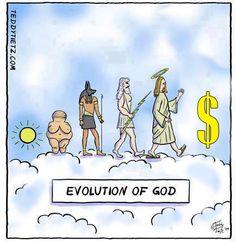 Evolution of God | Anonymous ART of Revolution