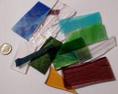 1/4lb Opal Transparent and Iridescent Mix 90 COE Scrap Assortment - Nice!