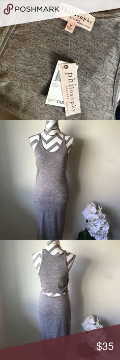 NWT!! Philosophy Body Con Dress Size M Brand spanking new. Wish I had the body for this!  Size M Philosophy Dresses Midi
